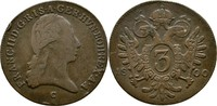 3 Kreuzer 1800 RDR Böhmen Prag Franz II./I., 1792-1835 Randfehler, fss/... 16,00 EUR  +  3,00 EUR shipping
