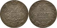 10 Groszy 1840 Polen Russland Nikolaus I., 1825-1855 vz  25,00 EUR  +  3,00 EUR shipping