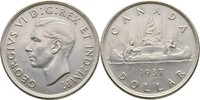Dollar 1937 Canada George VI., 1936-1952 vz  40,00 EUR  +  3,00 EUR shipping