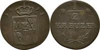 1/2 Kreuzer 1811 Großherzogtum Würzburg Ferdinand von Österreich ss  15,00 EUR  +  3,00 EUR shipping