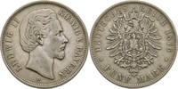 5 Mark 1876 Bayern München Ludwig II., 1864-1886 ss  55,00 EUR  +  3,00 EUR shipping