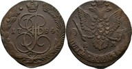 Russland Ekaterinburg 5 Kopeke Katharina II., 1762-1796