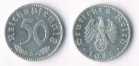 III. Reich 50 Pfennig Münzstätte Wien