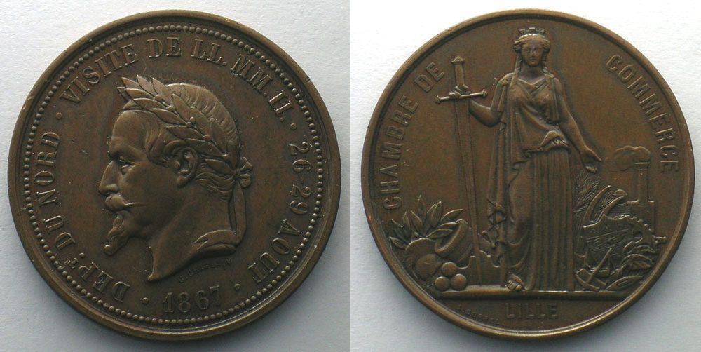 1867 jetons und medaillen numismatique du commerce et de l - Chambre du commerce et de l artisanat ...