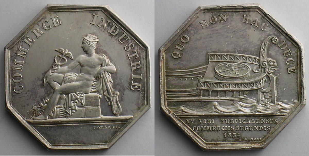 Jeton 1834 jetons und medaillen numismatique du commerce - Chambre du commerce et de l artisanat ...