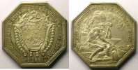 Jetons und Medaillen  jeton octogonal en argent   Officiers des Eaux de Paris   1788    SUP/FDC