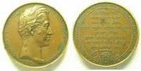 Jetons und Medaillen  BARRE   Visite de Charles X et du Dauphin le 11 septembre 1828   cuivre  41mm