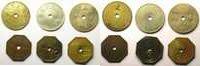 Ausländische Münzen  Hollogne   R.T.V.M.   Un Pain   Série de 6 jetons    TTB