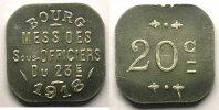 Jetons und Medaillen  Elie 25.2  20 c 1918   BOURG   Al,4a   18,5 mm    SUP/FDC