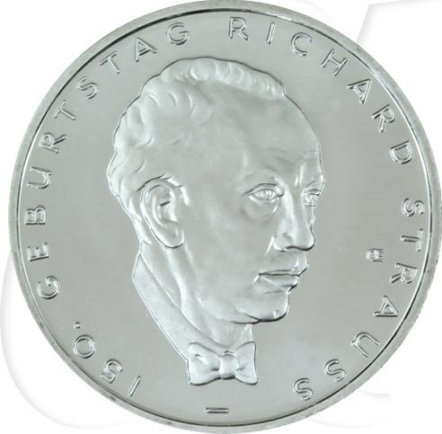 10,00 Euro 2014 Deutschland BRD 10 Euro CuNi 2014 D st/prägefrisch 150. Geburtstag Richard Strauss st / prägefrisch