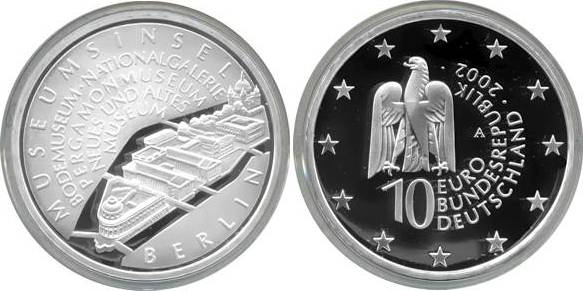 10,00 Euro 2002 Deutschland BRD 10 Euro Silber 2002 A PP (Spiegelglanz) Museumsinsel Berlin PP (Spiegelglanz)