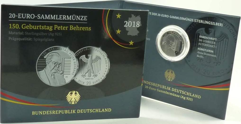 20 Euro 2018 Deutschland Deutschland 20 Euro 2018 A Pp Peter Behrens