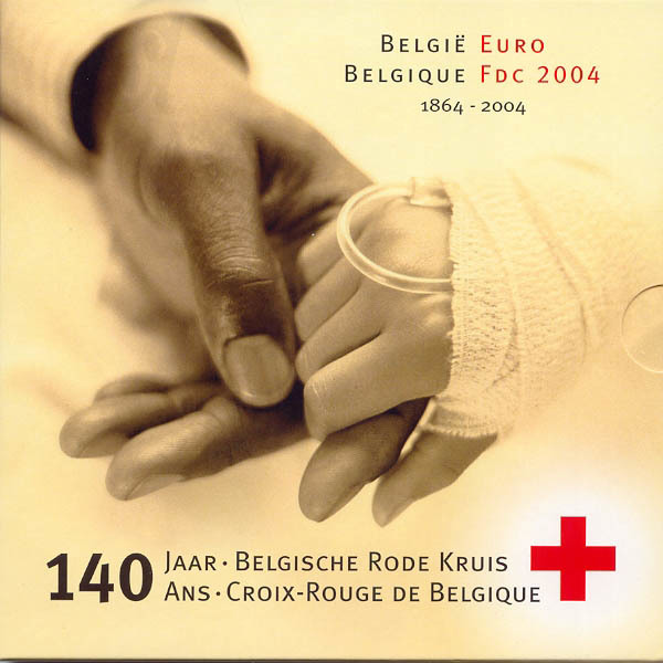 3,88 Euro 2004 Belgien Belgien Kursmünzensatz 2004 stempelglanz 140 Jahre Rotes Kreuz Belgien stempelglanz