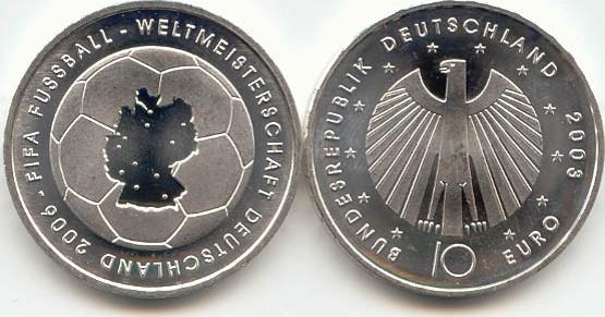 10,00 Euro 2003 Deutschland BRD 10 Euro Silber 2003 J st/prägefrisch Fußball-WM Ausgabe I st / prägefrisch