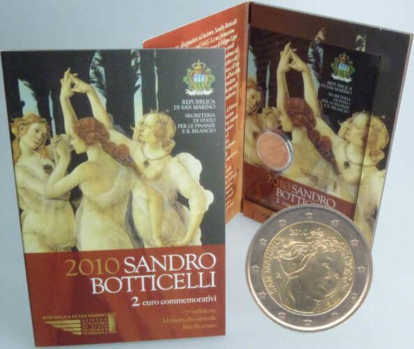 2,00 Euro 2010 San Marino San Marino 2 Euro vz-st 2010 original Sandro Bottichelli vz-st