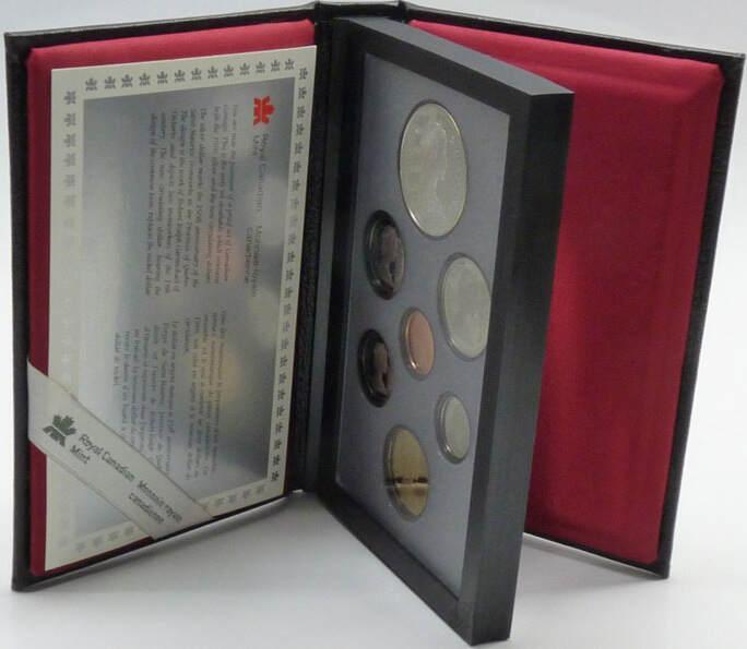 2,91 Dollar 1981 Kanada Kanada Kursmünzensatz 1981 PP - Double Dollar Prestige Set - Eisenbahn PP