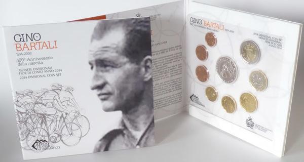 8,88 Euro 2014 San Marino San Marino Kursmünzensatz stempelglanz/OVP 2014 mit 5 Euro Gino Bartali stempelglanz OVP