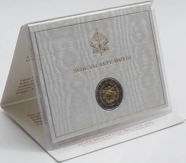 2,00 Euro 2013 Vatikan Vatikan 2 Euro 2013 stempelglanz/OVP Sede Vacante stempelglanz OVP