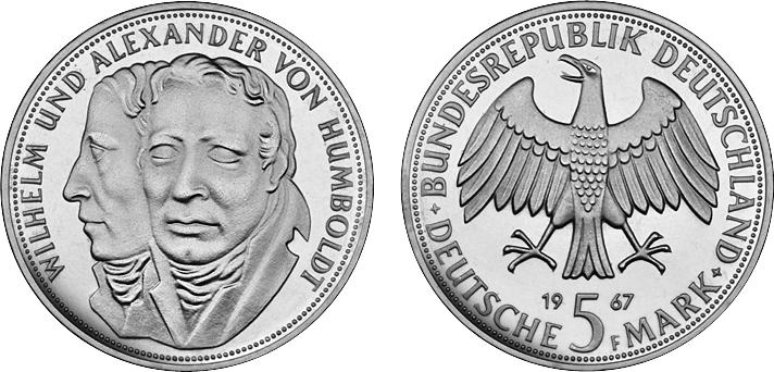 5 Dm Humboldt 200 Geburtstag Von Wilhelm Und Alexander Von