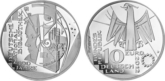 10 Euro Gedenkmünze 2012 D Brd Silber Pp 100 Jahre Deutsche