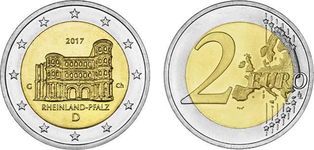 2 Euro 2017 G Deutschland 2017 Porta Nigra Rheinland Pfalz