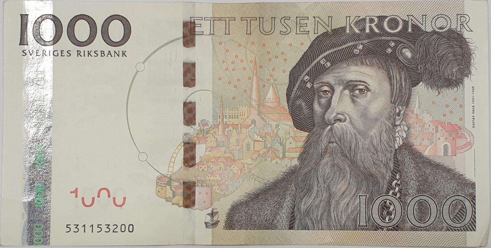 Schweden 1000 Kronor 2005 Sweden Ett Tusen Kronen Ii Ma Shops