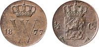 ½  Cent 1877 Willem III  Almost vz  55,00 EUR  zzgl. 10,00 EUR Versand