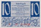 Deutschland - West, 10 Pf Finanzministerium Württemberg-Hohenzollern, Tübingen,