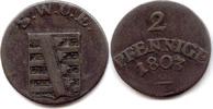 Sachsen-Weimar-Eisenach, 2 Pfennig Carl August, 1758-1775-1828,