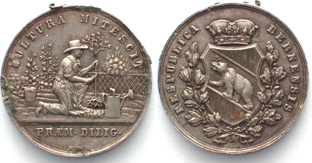 1725 Schweiz - Bern BERN Gärtnerpfennig o.J.(1857) v. Lendi ...