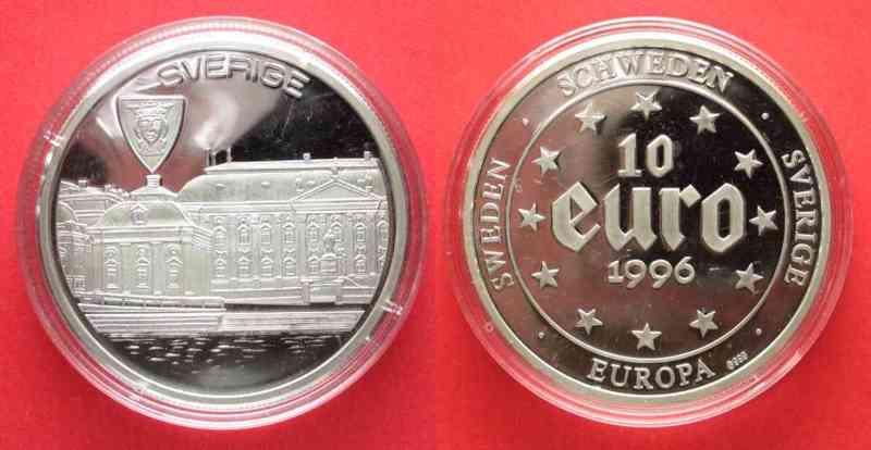 1996 Europa Schweden 10 Euro 1996 Stockholm Sverige Silber 20g