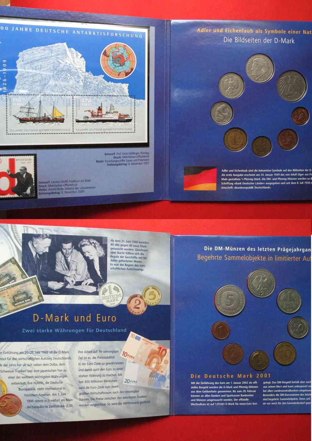 2002 Deutschland Bundesrepublik Deutsche Post 2002 Dm Euro Set W