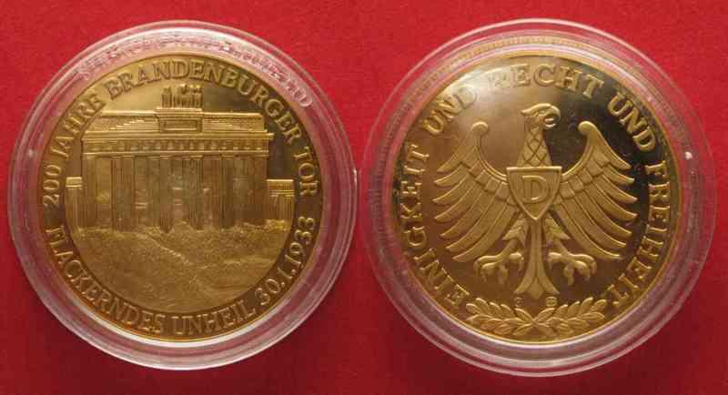 1991 Deutschland Medaillen 200 Jahre Brandenburger Tor