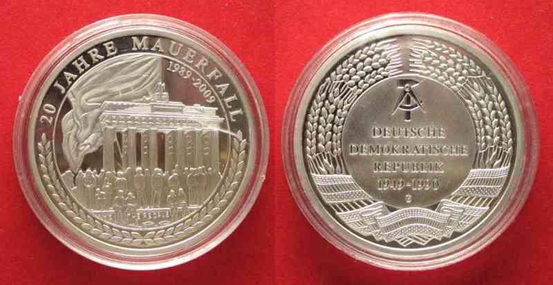 2009 Deutschland Medaillen Ddr 20 Jahre Mauerfall Medaille 2009