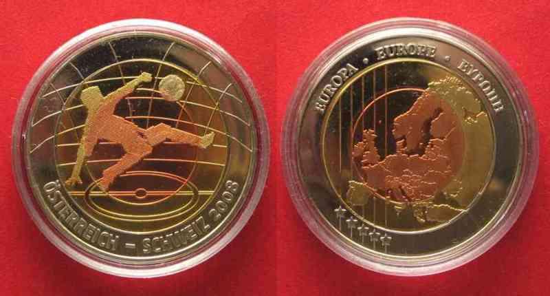 2008 Deutschland Medaillen Fussball Em 2008 österreich Schweiz Fussballer Bimetall 78927 St