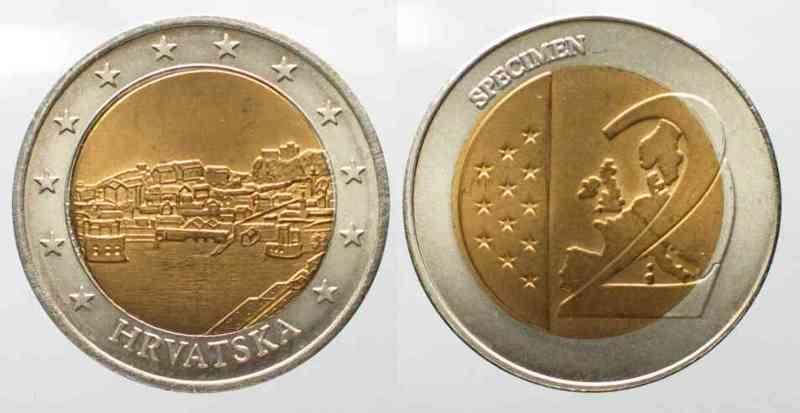 2007 Kroatien Kroatien 2 Euro 2007 Probe Bimetall 79367 St Ma Shops