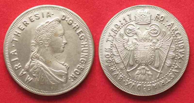 1960 österreich Medaillen Maria Theresia Taler 1760 Moderne