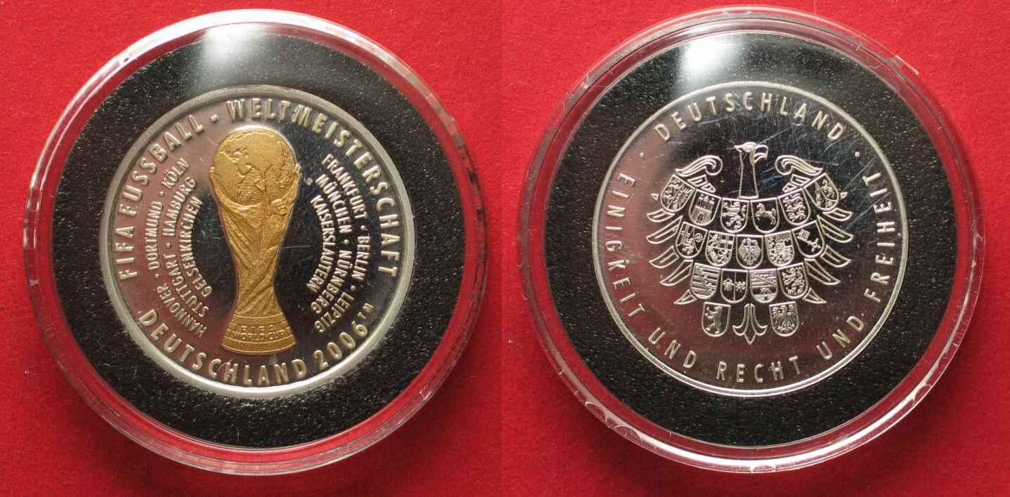 2006 Deutschland Medaillen Fifa Fussball Wm 2006 Silber