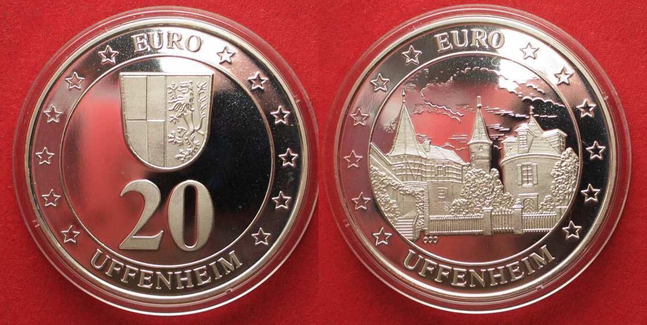 1997 uffenheim uffenheim 20 euro 1997 mit punzierung euro. Black Bedroom Furniture Sets. Home Design Ideas