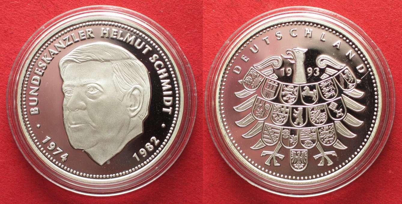 1993 Deutschland Medaillen Bundeskanzler Helmut Schmidt Medaille