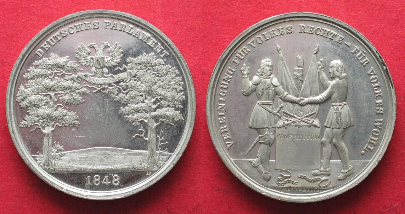 1848 Deutschland Medaillen Frankfurter Nationalversammlung 1848