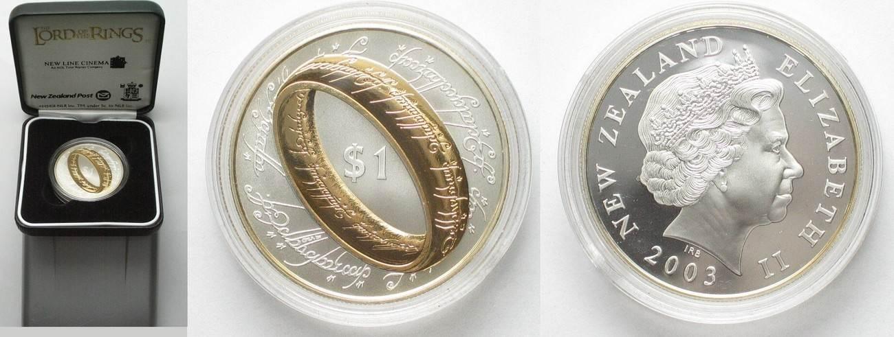 2003 Neuseeland Neuseeland 1 Dollar 2003 Der Herr Der Ringe Silber