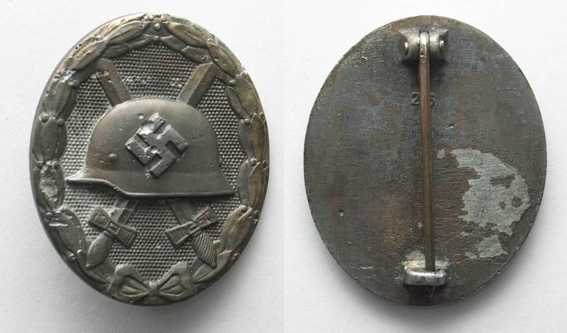 Afbeeldingsresultaat voor Verwundetenabzeichen 1939 in Silber
