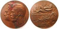 Russland - Medaillen NIKOLAUS II. Medaille 1901 200 JAHRE MARINE KADETTEN CORPS Bronze 64mm  1901 vz