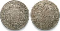 Schweiz - Basel  BASEL Stadt Halbtaler 1765 H Silber # 14003