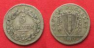 Schweiz - St. Gallen  ST. GALLEN Kanton 5 Batzen 1810 ohne Punkt Silber SEHR SELTEN!!! # 14037