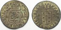 Schweiz - Wallis  WALLIS Bistum SITTEN Halbbatzen 1683 ADRIAN V. v. RIEDMATTEN Billon vz! # 14274