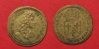 Nürnberger Rechenpfennige  LOUIS XIV Rechenpfennig ca.1668 v. CONRAD LAUFFER 1637-68 Messing 24mm # 91572