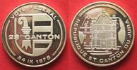 Schweiz - Medaillen  KANTON JURA ABSTIMMUNG 1978 pures Silber 20g 33mm SELTEN!!! # 93998