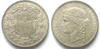 Schweiz  EIDGENOSSENSCHAFT 5 Franken 1908 FRAUENKOPF Silber PRACHTSTÜCK!!! # 94602